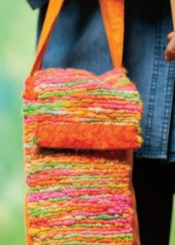 woven yarn spindle bag