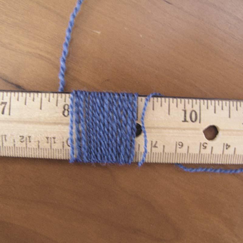 c. Make a yarn wrap to determine sett.