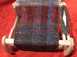 Scarf handwoven on a rigid heddle loom