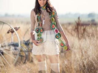 Yo-Yo Scarf Crochet Pattern