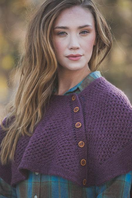 knit capelet shawl pattern
