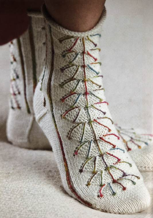 If you like sock knitting patterns, then you'll LOVE these beautiful knitted socks that uses a modern shaping technique and more!