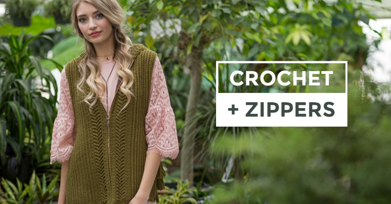 sewing zippers on crochet