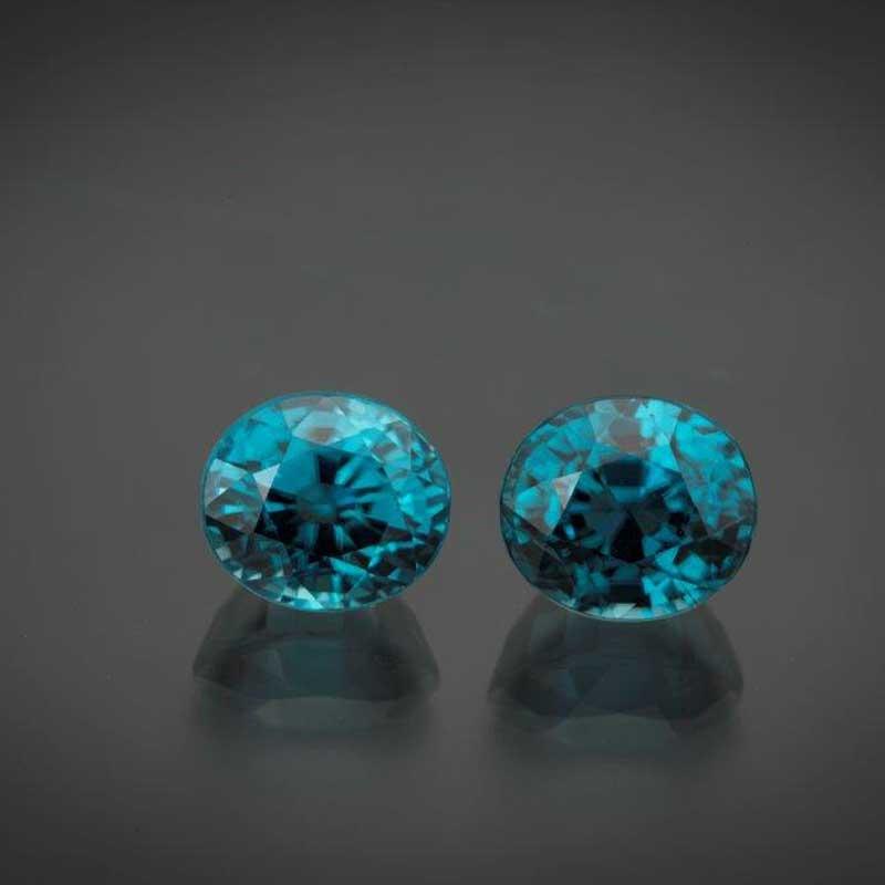 Beautiful blue zircon is a great alternative birthstone choice for December.