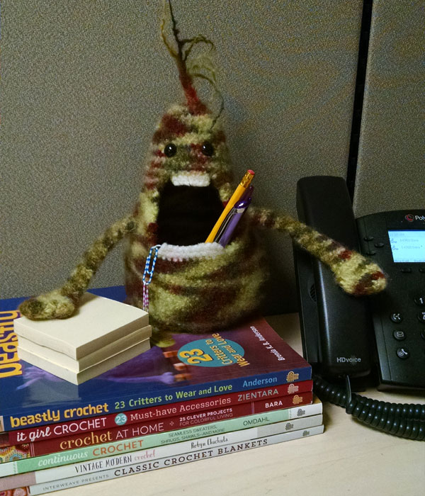 Zombie Amigurumi at Work