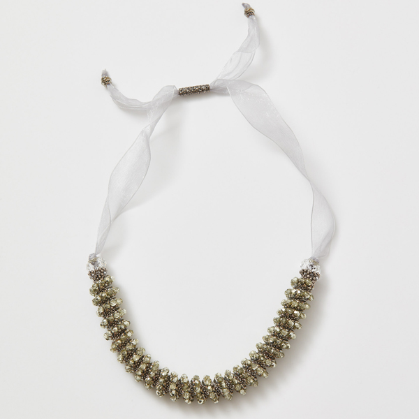 Ombré Cellini Necklace: Silver Colorway