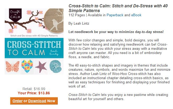 ad for Cross-Stitch to Calm