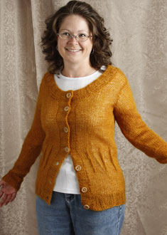 Knitting Gallery - Afterthought Darts Cardi Debbie