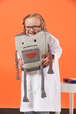 Mr. Robotics knitting pattern from Love of Knitting Toys by Grace Akhrem