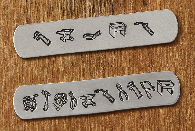 basic and deluxe jeweler's tools metal stamps exclusively from Interweave and Impress Art