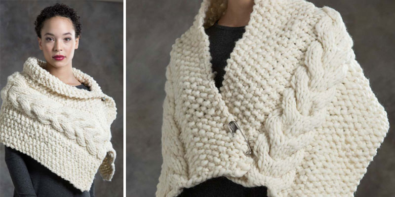 POW – Almond Wrap, the Knitting Pattern to Fall in Love With