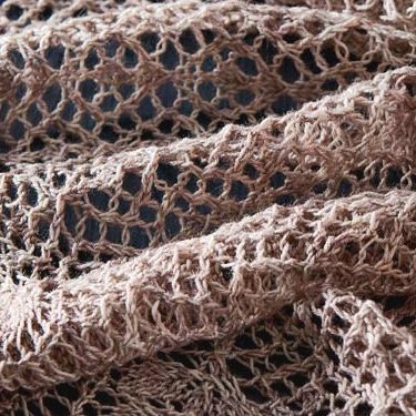 Almost Mauve Color Example Knit Shawl