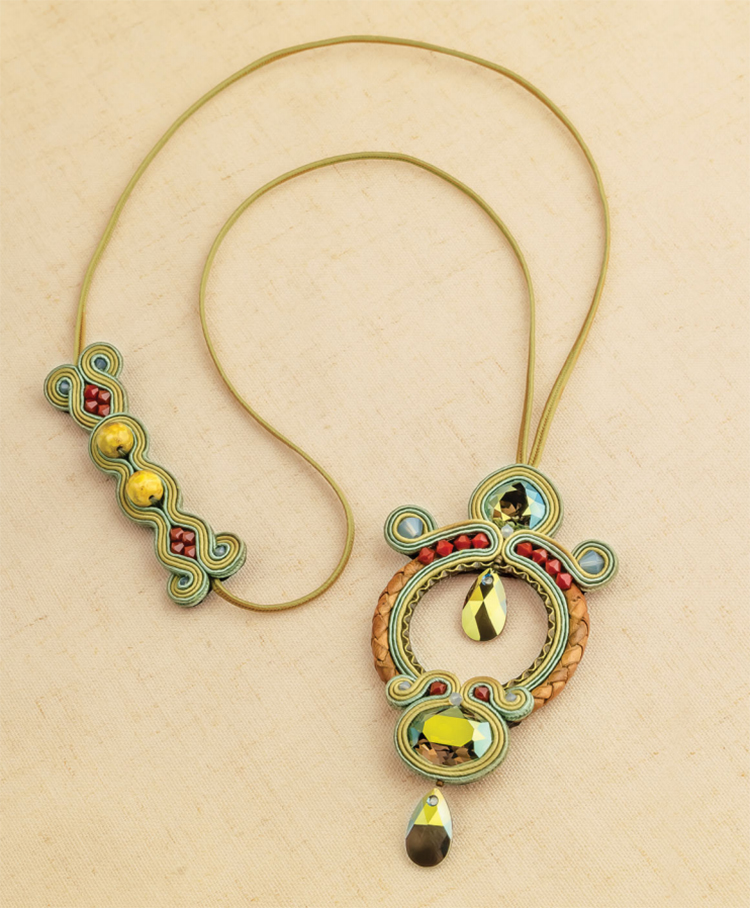 Apollo necklace, by Csilla Papp from Sensational Soutache