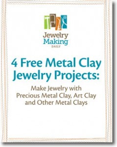 The Free Metal-Clay Jewelry Projects eBook come with 4 jewelry projects teaching you how to make jewelry with precious metal clay, art clay, and other metal clays.