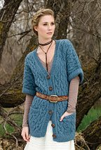 aryn tunic cardigan Knit Pattern