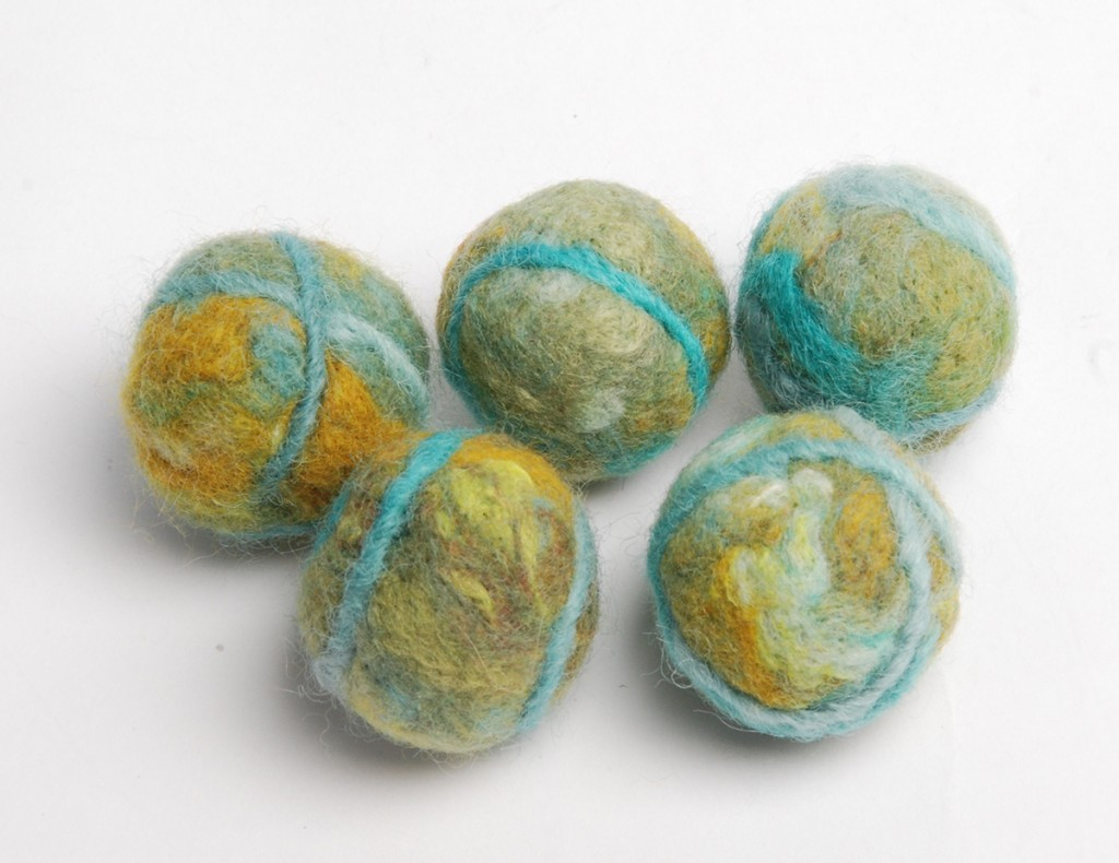 "Felted Beads from ""Create Felted Beads"" tutorial."