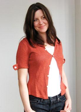 Knitting Gallery - Auburn Camp Shirt Sarah