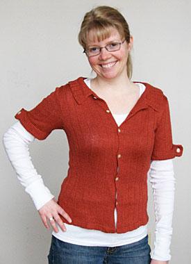 Knitting Gallery - Auburn Camp Shirt Toni