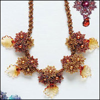 Aumtumn bouquet necklace has a lot of beadwork in it, which can be the solution to a needed necklace extender.