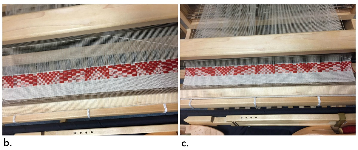 Determining the right weft angle