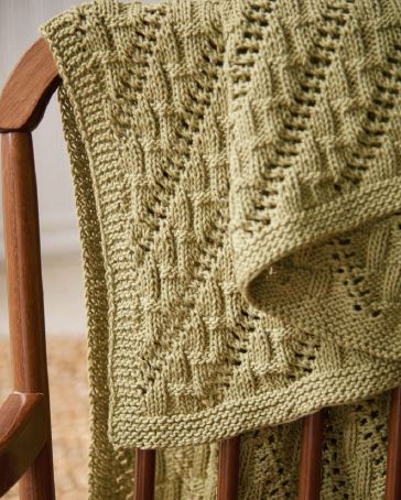 This snuggly baby blanket is so soft and warm. Learn how to knit your own for the little ones in your life!