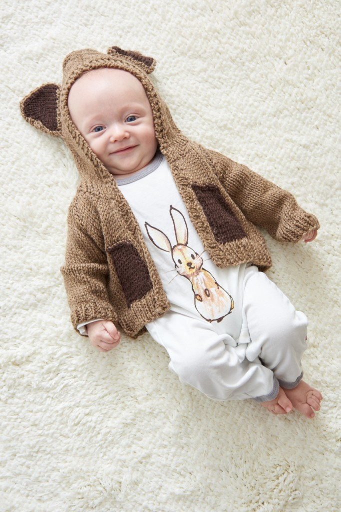 Bear Baby Sweater Pattern to KNit