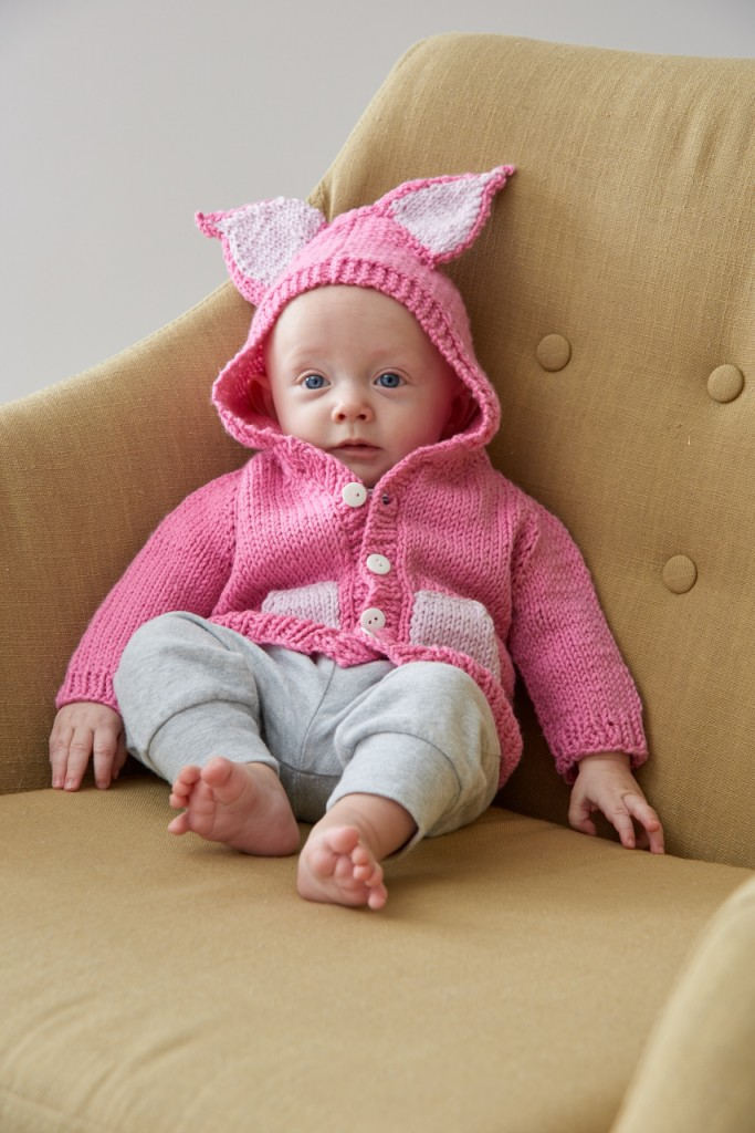 Little Animals Pig cardigan front