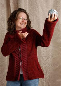Knitting Gallery - Backstage Tweed Jacket Debbie
