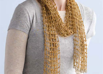 Gilded Mesh Beginner Scarf Pattern by Mags Kandis