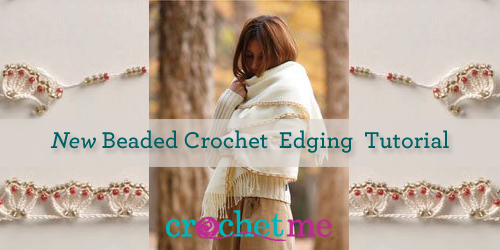 crochet edging shown on a stole