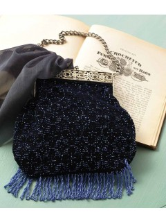 Learn how to make a crochet beaded bag or purse with this tutorial!