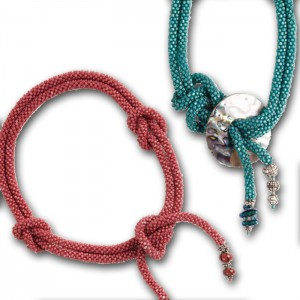 Learn how to make these beaded crochet rope lariats in this free bead crochet ebook.