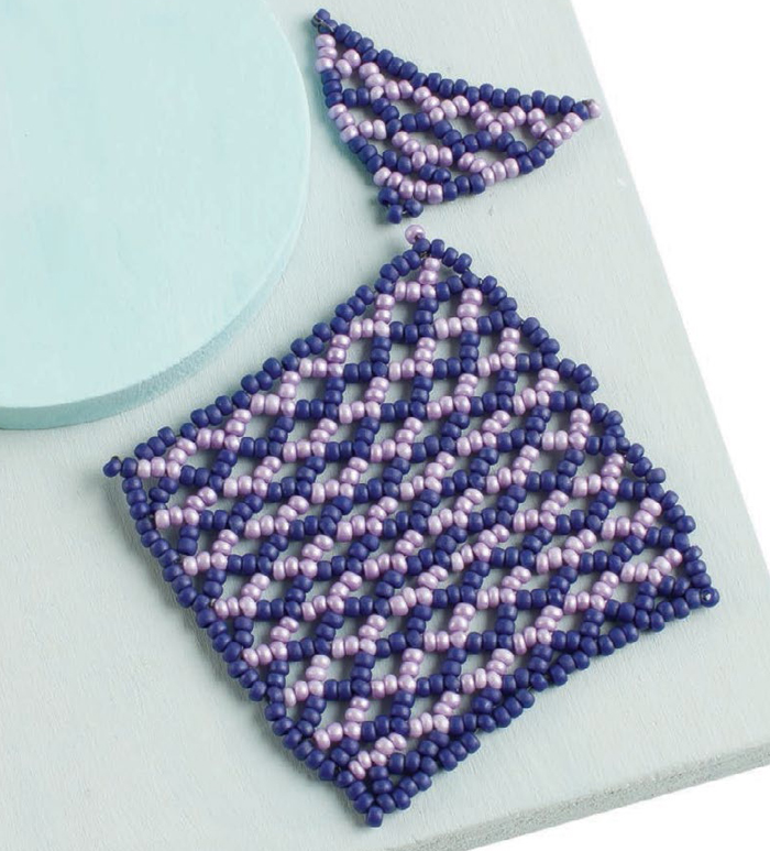 Learn how to use the shaped-beaded netting technique to make amazing, DIY beaded jewelry designs with Jean Campbell.