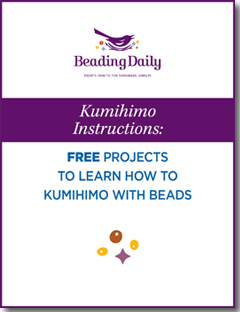 Learn how to kumihimo with beads in this exclusive, FREE eBook.