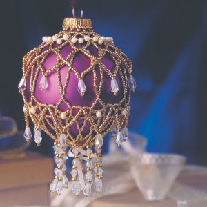 Learn how to make this beaded ornament cover in our FREE holiday jewelry and decor eBook.