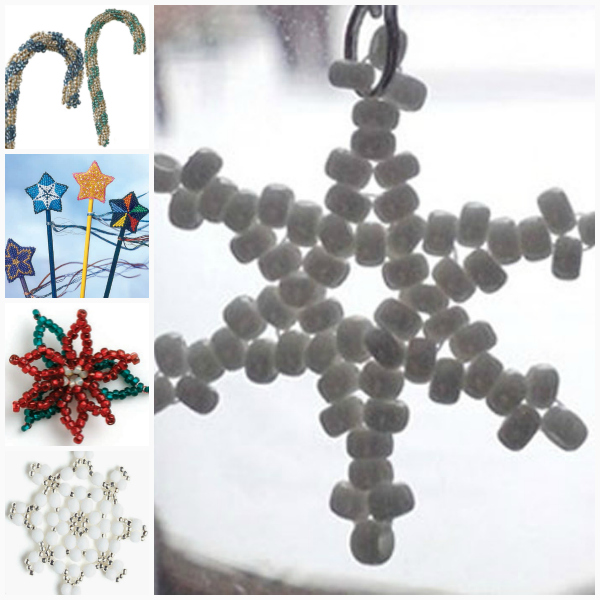 Free beading projects on beaded ornaments.