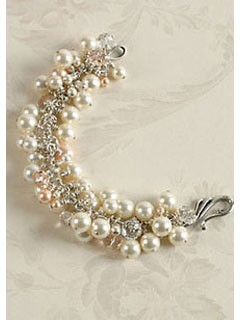 Learn how to make bracelets for your wedding such as this pearl bracelet perfect for brides.