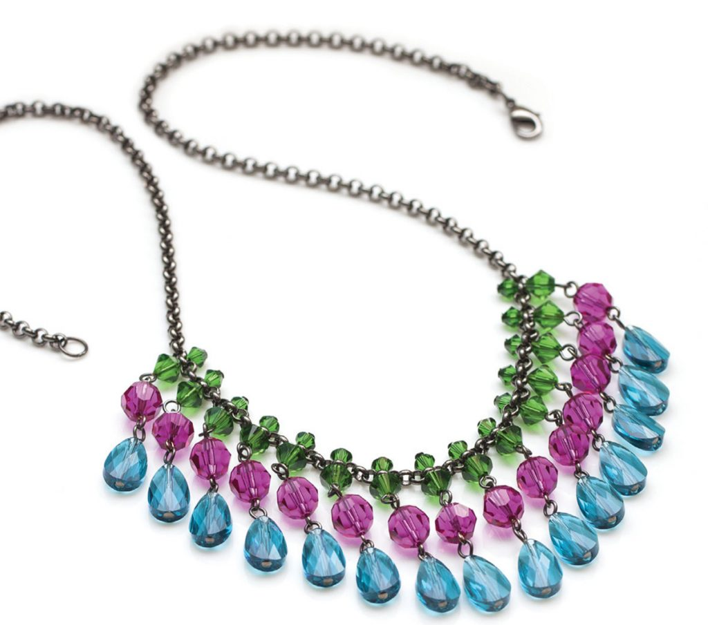 Make It Sparkle! By Lindsay Burke beaded jewelry making book. Bejeweled Necklace
