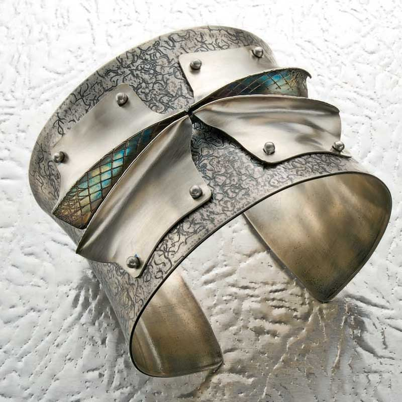 Statement cuff bracelet by Jack Berry from May 2010 Lapidary Journal Jewelry Artist