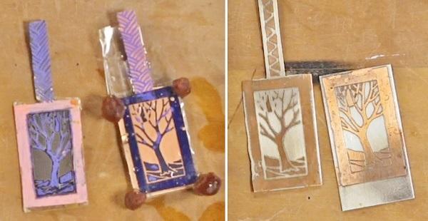 etching bimetal jewelry