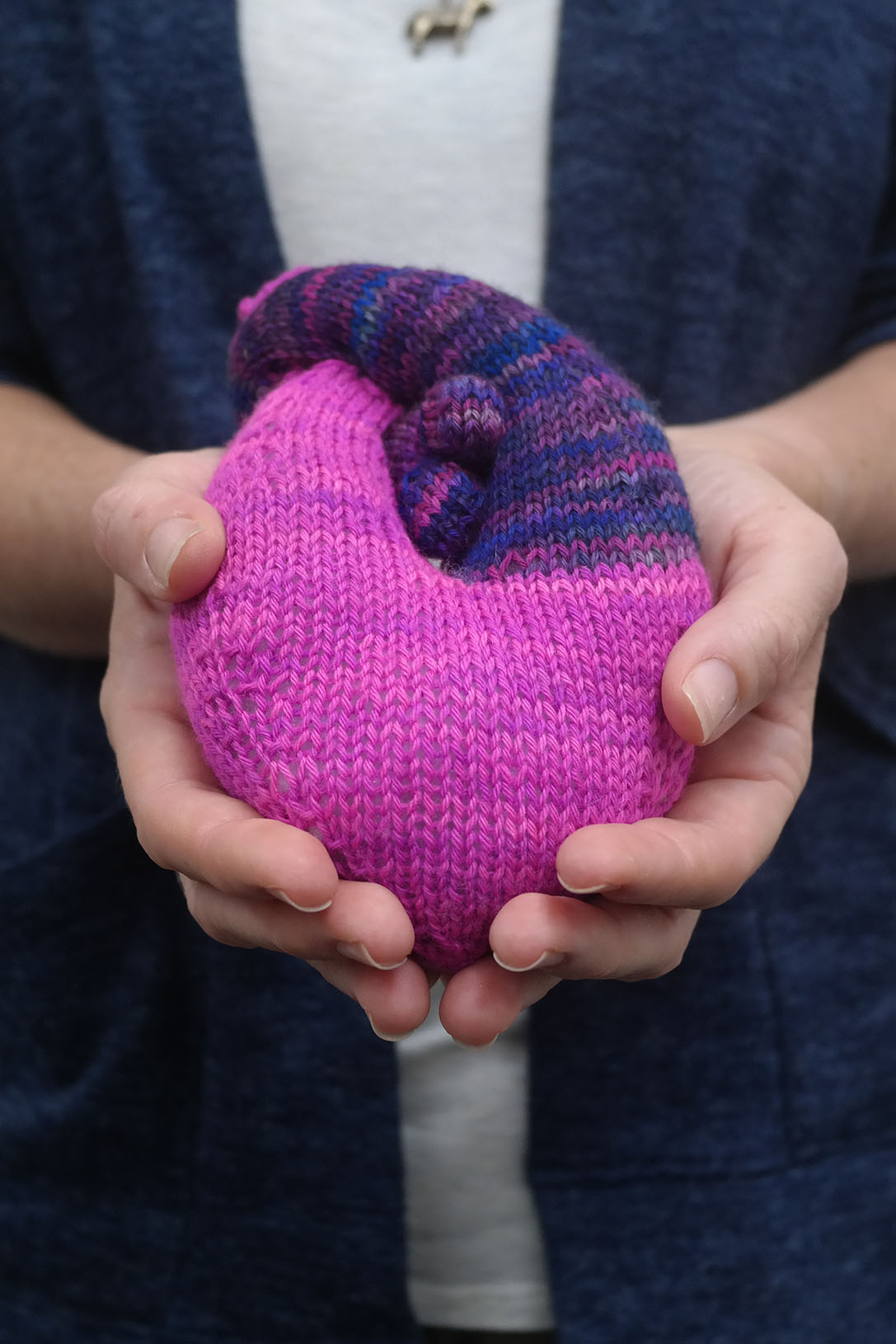Heart by Kristin Ledgett, knitted by Andrea Cull