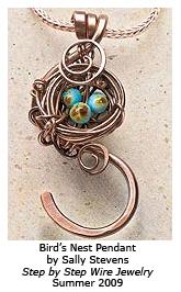 Wire Wrapped Bird's Nest Pendant