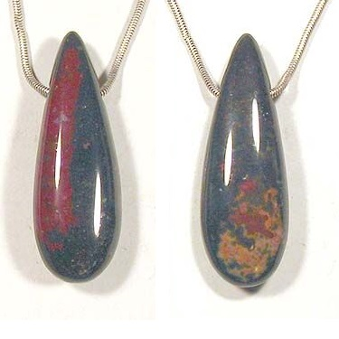 bloodstone cabochon gemstone pendants