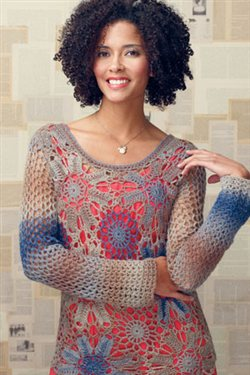 What a gorgeous lace crochet motif top.