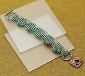 You'll love making this loomworked bracelet in this FREE eBook on bead loom patterns.