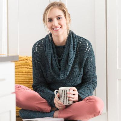 bookworm sweater & cowl set