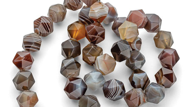 Botswana agate, from the November/December 2018 issue of Lapidary Journal Jewelry Artist. Photo by Jim Lawson.