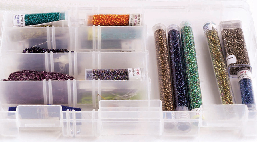 seed beads contained. Hanks and tubes