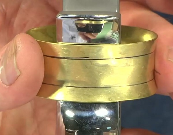 form concave and convex metal bangles and other shapes with Bill Fretz