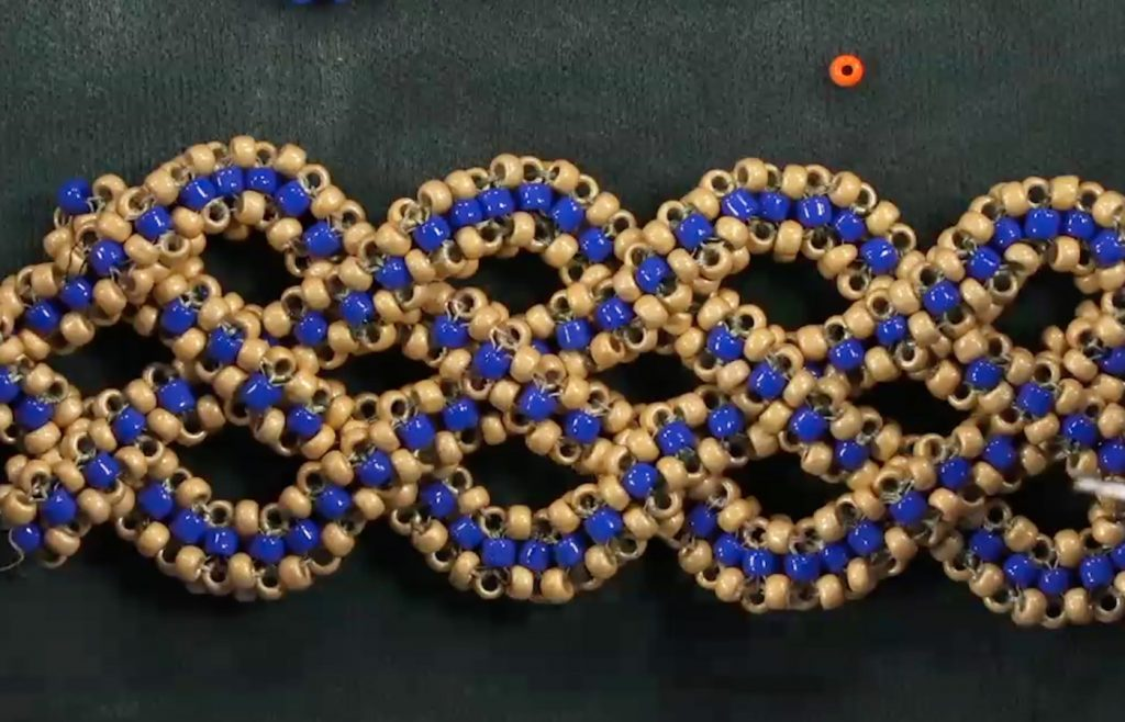 cubic right-angle weave, prismatic right-angle weave, basketweave, Huib Petersen, Beadweavng 1& 2 video